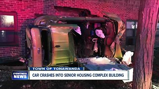 Two injured after vehicle crashes into Town of Tonawanda senior apartment building
