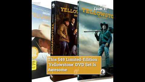 This $49 Limited-Edition 'Yellowstone' DVD Set Is Awesome