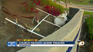 Church nativity scene removed in Oceanside - Video