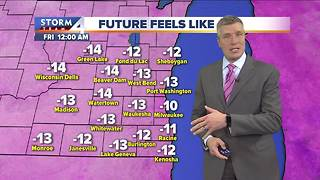 Partly cloudy and very cold Thursday night - Video