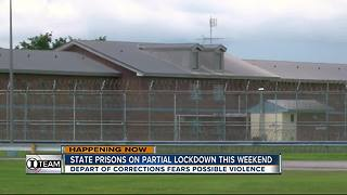 State prisons on partial lock down this weekend - Video