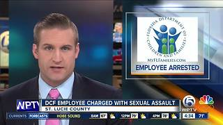 DCF worker accused of sexual misconduct with mental patient in St. Lucie County - Video