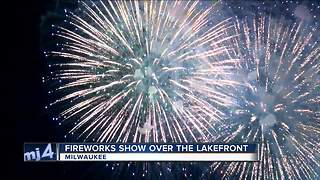 'I love this': Lakefront July 3rd fireworks a family tradition - Video