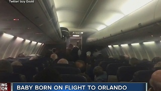 Baby born on flight to Orlando, made emergency landing in Charleston - Video