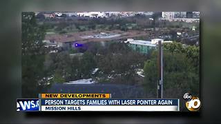 Mystery laser pointer back in Mission Hills - Video