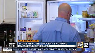 Grocery shopping becoming more of a shared task at home