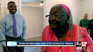 Legally blind Tampa woman gets back into home nearly a decade after it was destroyed by tornado