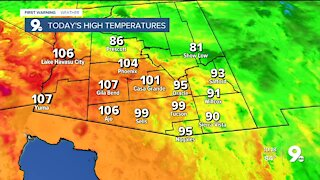 Double digits and hazy conditions take over the weekend