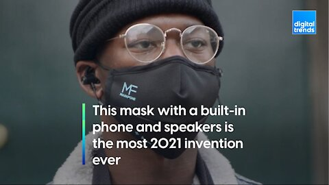 This mask with a built-in phone and speakers is the most 2021 invention ever