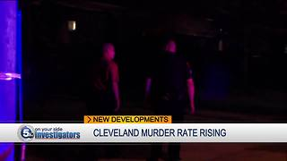 Homicide numbers rising in Cleveland