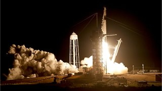 SpaceX Rocket Blasts Off For Space Station With Unmanned Test Capsule