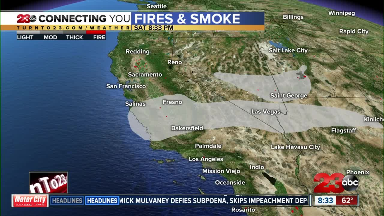 Hazy conditions over the next several days