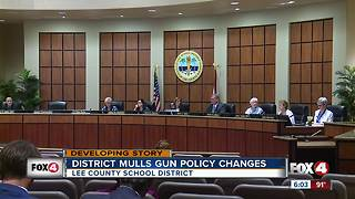 Lee Co. School District mulls gun policy changes - Video
