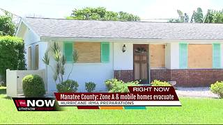 Manatee County Zone A and mobile homes evacuating