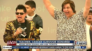 Music teacher honored by school, Vegas Wish