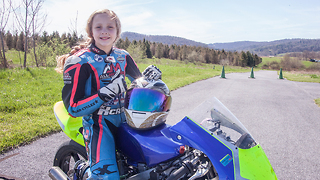 10-Year-Old Motorcyclist Racing The Pros | KICK-ASS KIDS - Video