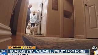 Burglars steal valuable jewelry from homes - Video