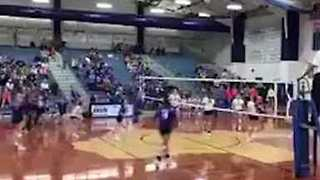 High School Volleyball Player Makes Incredible Save
