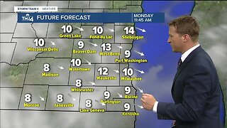 Partly cloudy skies Monday