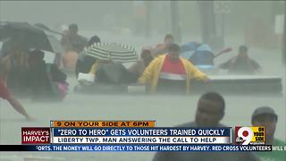 Red Cross training volunteers to respond to Texas - Video