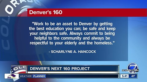 Denver's Next 160 Project asks seniors to write letters to next generation