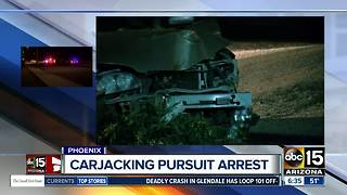 Arrest made after carjacking, pursuit in Phoenix - Video