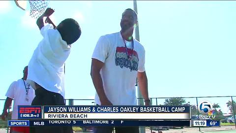 Former NBA stars Jayson Williams and Charles Oakley host their second annual basketball extravaganza