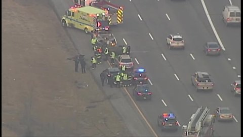 Lanes blocked on I-90 WB at Lorain after car on its roof