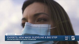 Experts say the new mask guideline is a big step