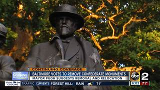Baltimore votes to remove 4 remaining confederate monuments