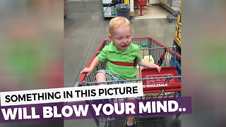 Woman Notices Crazy Coincidence In Picture Of Her Son - Video