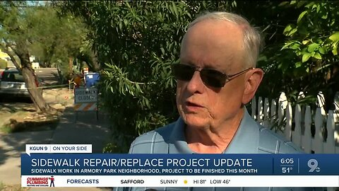 Sidewalk project in Armory Park Neighborhood expected to be finished in April