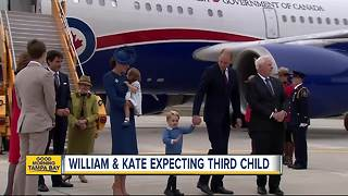 Palace announces Prince William, Kate expecting third child - Video