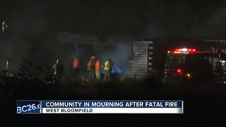 West Bloomfield community dealing with tragedy after deadly fire - Video