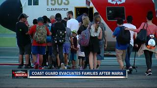 Coast Guard evacuates families from Puerto Rico