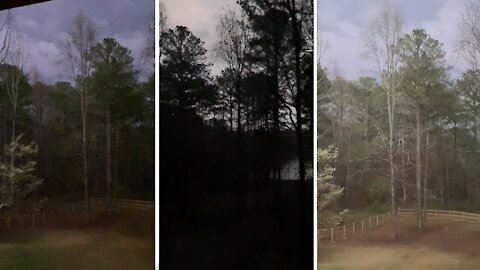 Tornado warning in Georgia looks like a scene from a scary movie