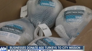 400 turkeys donated for Buffalo City Mission's Thanksgiving meal - Video