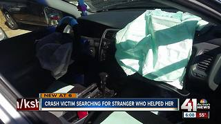 Victim of Independence crash searching for good Samaritan who helped her - Video