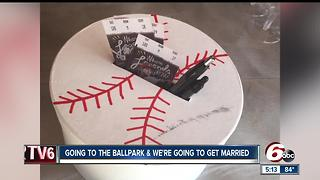 Couple marries at Victory Field