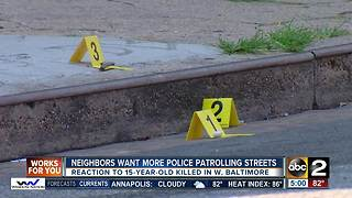 West Baltimore residents want more police presence after fatal shooting - Video