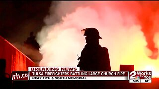 Fire erupts at Memorial Drive Church of Christ