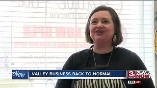 Valley business back to normal