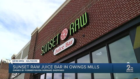 Sunset Raw Juice Bar at Foundry Row is open Baltimore!