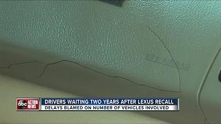 Drivers waiting two years after Lexus recall