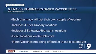 Arizona designates 6 pharmacies in Pima County as COVID-19 vaccination sites