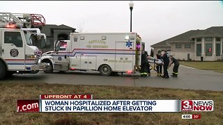 Papillion woman in critical condition after getting stuck in home elevator