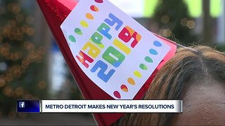 Metro Detroit makes New Year's resolutions - Video