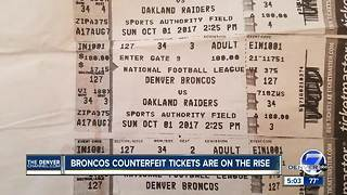 Denver Broncos warn of counterfeit tickets being bought through unofficial vendors