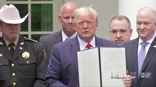 President Trump signs police reform order
