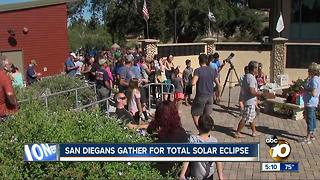 San Diegans share the eclipse - Video